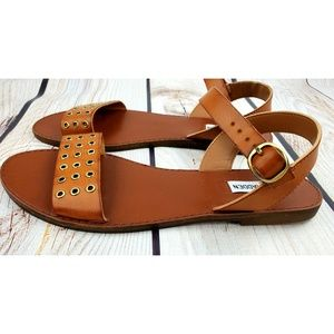 Steve Madden Rayden sandals tan leather 8.5